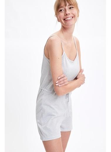 Defacto –Fit Pijama Takım Beyaz